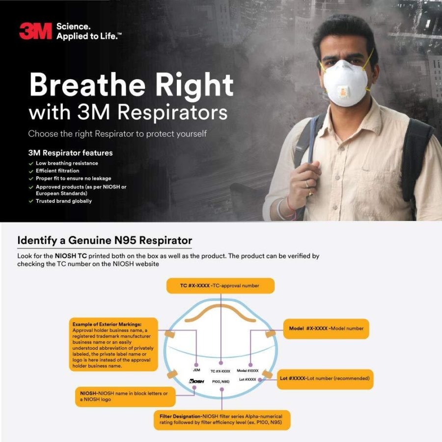 3m 8210 n95 particulate respirator face mask 20