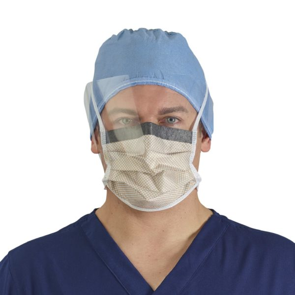HALYARD FLUIDSHIELD 2 Fog-Free Surgical Mask, 28809-05 for sale, approved for coronavirus by CDC