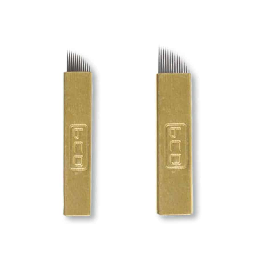 Super Thin Gold Microblading Blades (0.18mm) Nano Gold Hard Blades PCD