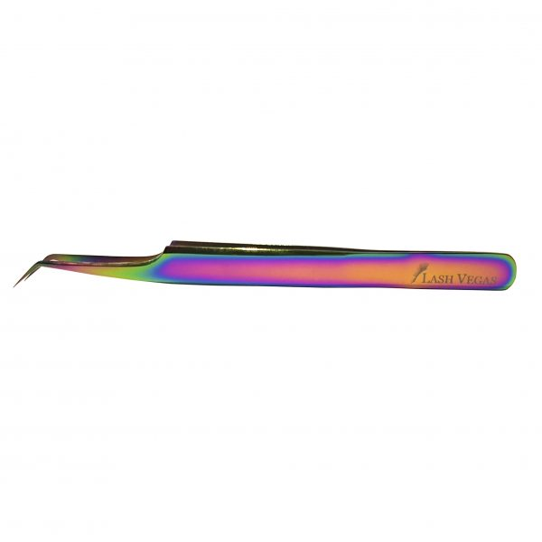 45° Angle Curved-Tip Tweezers (12cm with 7mm tip) - Multi-colour