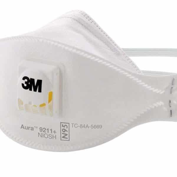 3M™ Aura™ Particulate Respirator Face Masks 9211+, N95 for Personal Safety