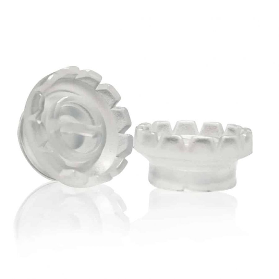 Flower-Shaped Glue Cup (with 2-wells divider, diameter 9mm)