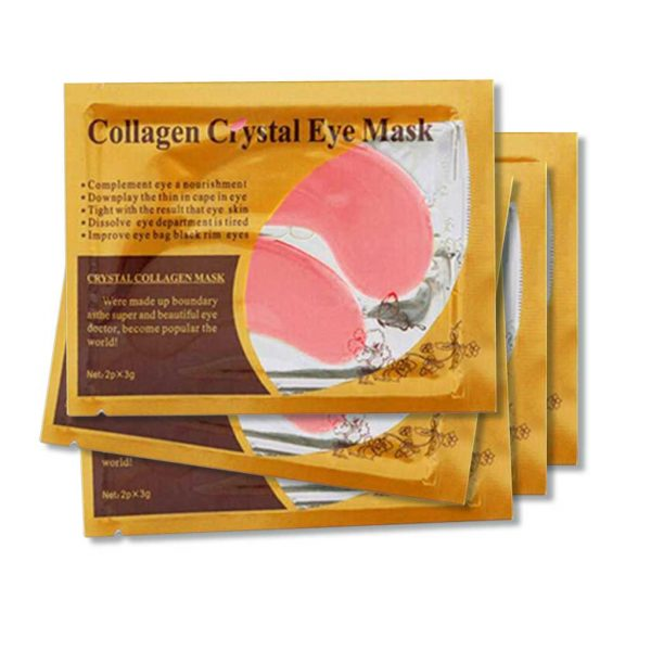 Collagen Crystal Eye Mask Pads (Pink or Gold)
