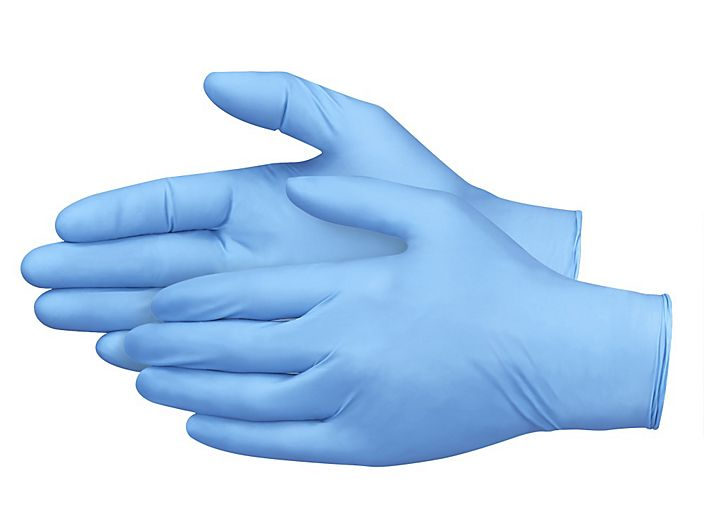 Blue Disposable Nitrile Gloves (50 pairs per box)