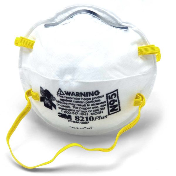 3M™ Disposable Particulate Respirator and Face Mask 8210, N95 Face Mask for sale