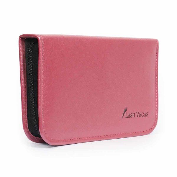 Tweezers Case 6-Piece (holds 6 tools, with elastic grips) - Pink