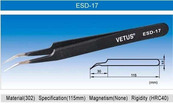 VETUS Tweezers - ESD Series