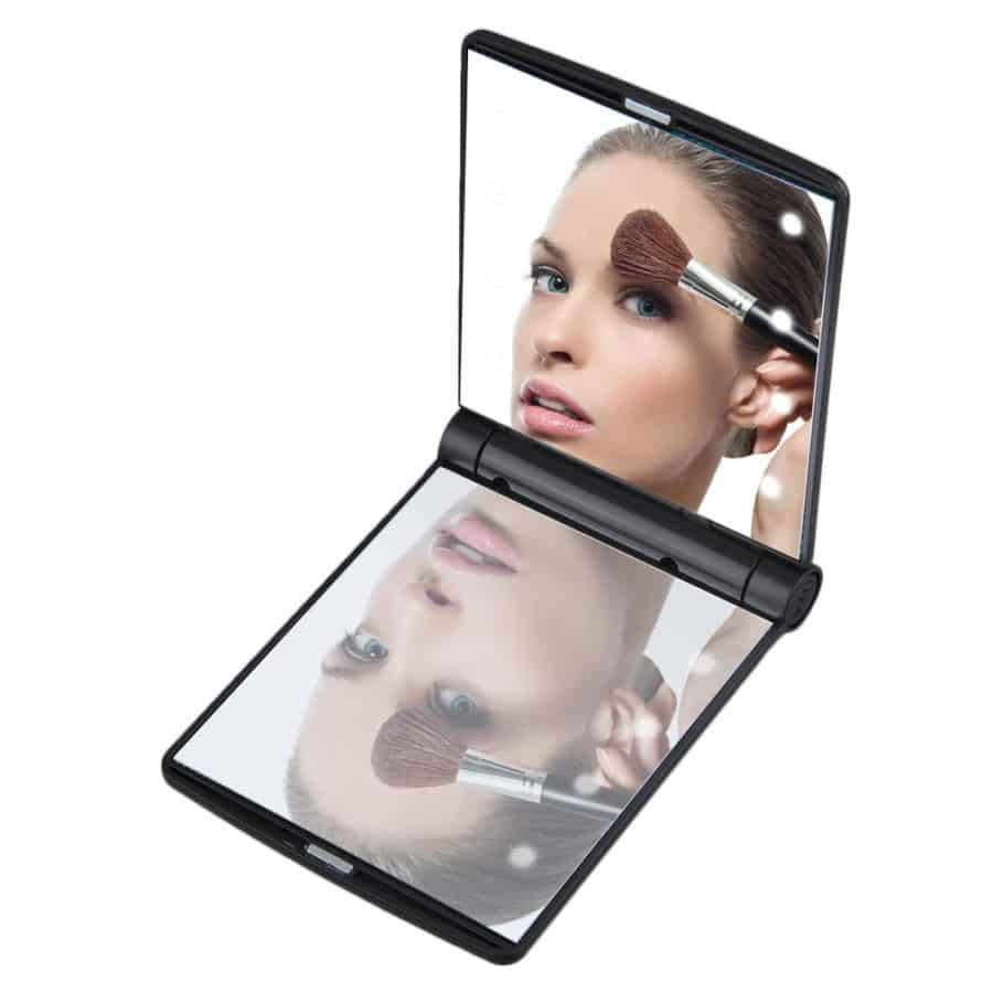 Pocket Beauty Mirror with 8 LED Lights